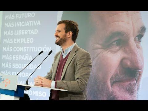 Intervención de Pablo Casado en el acto de presentación de Carlos Iturgaiz.