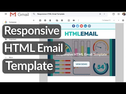 Build A Responsive HTML Email Template with HTML Tables & CSS
