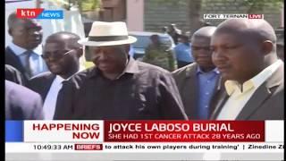 Raila Odinga arrives at Joyce Laboso's Burial in Fort Ternan