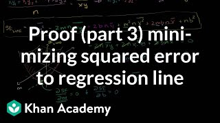Proof (Part 3) Minimizing Squared Error to Regression Line