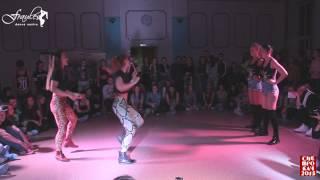 Siberian Dancehall Contest 2015 - Dancehall 2x2 - 1/8 final - Katya & Nastya vs. Ice Cream Crew