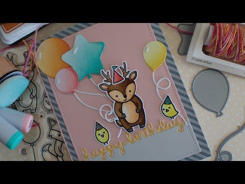 How To Make A Birthday Card Lawnfawn Video Majapahit