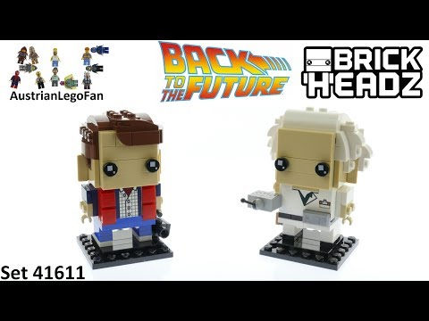 Vidéo LEGO BrickHeadz 41611 : Marty McFly & Doc Brown (Retour vers le Futur)