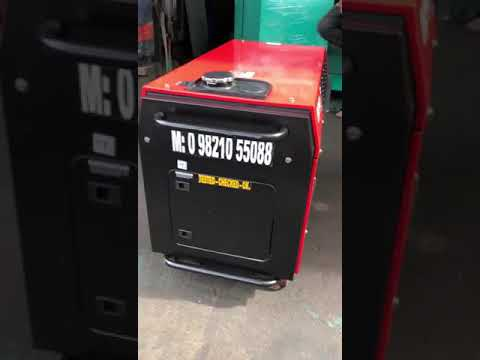9 KW BAJAJ-M SOUNDPROOF PETROL PORTABLE GENSET.