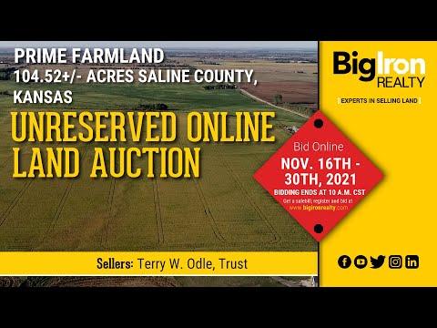 Land Auction 104.52+/- Acres Saline County, KS