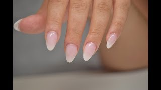 How To: Natural Looking Almond Nails Hard Gel Extension | April Ryan | Red Iguana