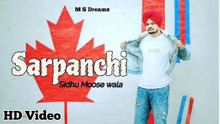 Sarpanchi (Official Song) Sidhu Moose Wala | Latest Punjabi Song 2018