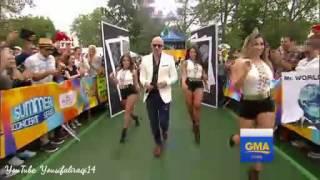 "Pitbull on GMA 2016 "" messin around """