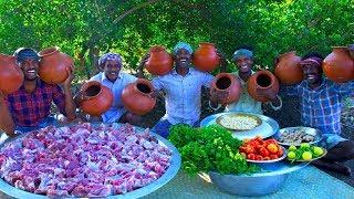 POT BIRYANI | Mutton Biryani Cooking In Clay Pot | Traditional Healthy Mutka Mutton Biryani Recipe
