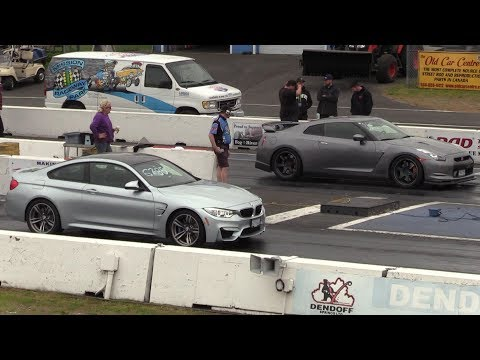 GTR vs BMW M4 - drag race