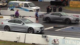 GTR vs BMW M4 - drag race