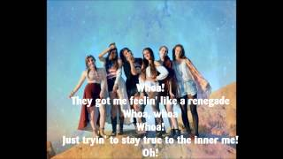 Renegade - Cimorelli STUDIO VERSION LYRICS