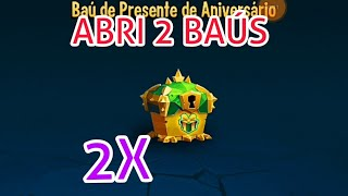 ABRI 2 BAÚS DE ANIVERSÁRIO MIM DEI BEM?? MONSTER LEGENDS