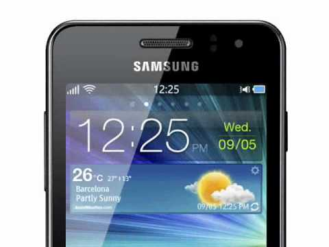 Youtube Video Samsung Wave M S7250 in metallic silver