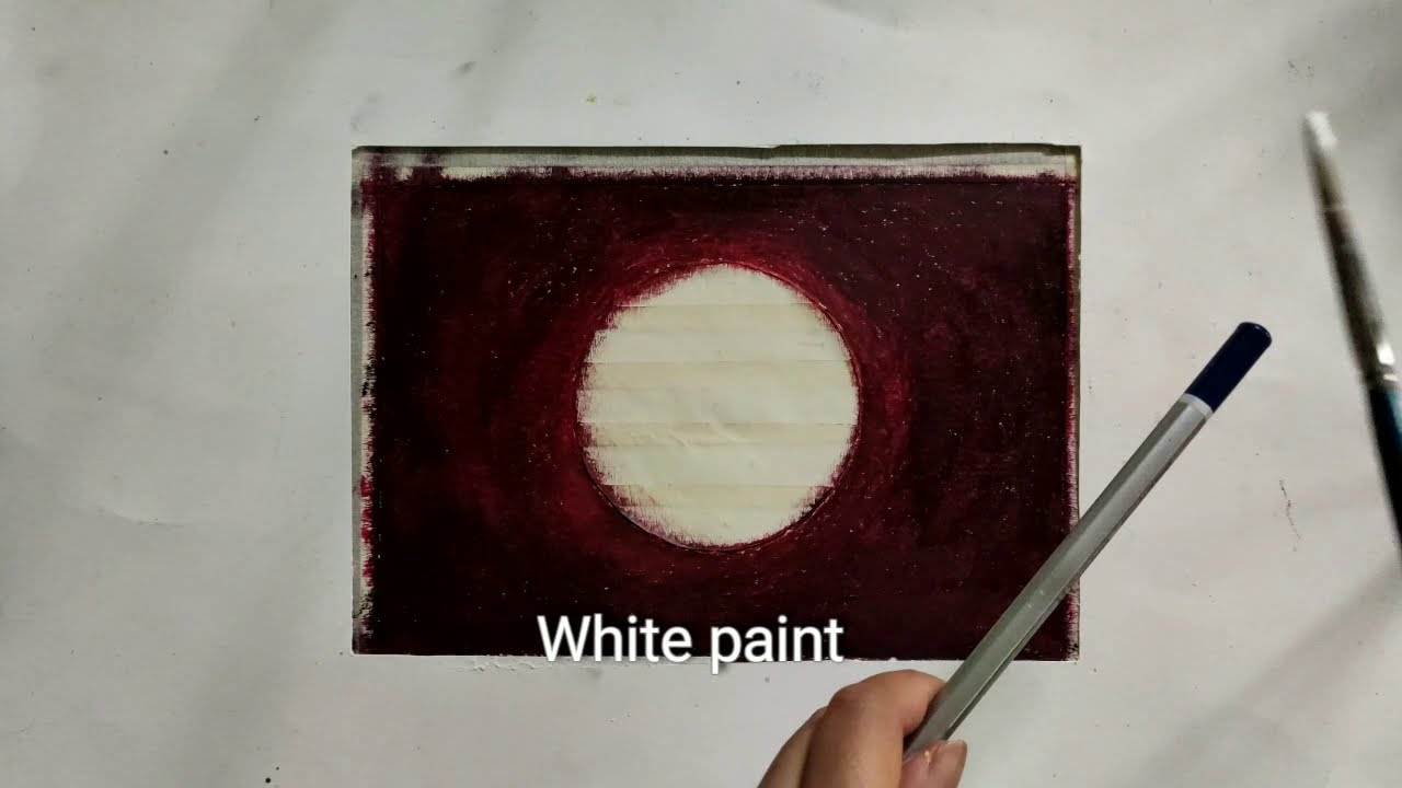 pastel painting of blood moon tutorial by art diarium