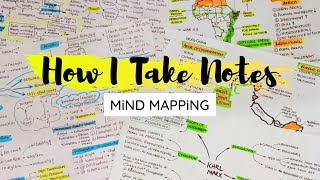 How I Take Notes ☆ Mind Mapping Method ☆ How To Make Mind Map | Note Making
