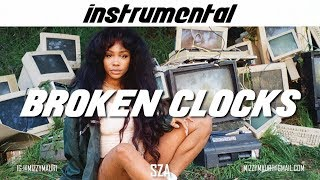 SZA   Broken Clocks (INSTRUMENTAL) *reprod*