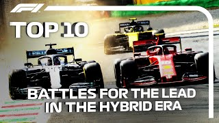 Top 10 Battles For The Lead Of The F1 Hybrid Era
