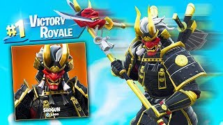 *NEW* LEGENDARY FORTNITE SHOGUN SKIN GAMEPLAY! with MY LITTLE BROTHER!