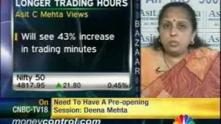 Extended trading hrs to create execution issue: Deena Mehta