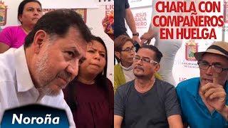 Noroña visita Huelga de Hambre en el Ayuntamiento de Culiacán