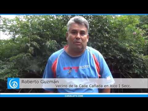 Vecinos piden drenaje en la calle Cañada en la colonia Xico 1ra Sección en Valle de Chalco