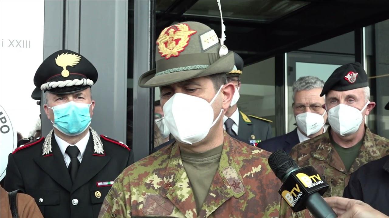 Il commissario Figliuolo alla Fiera di Bergamo
