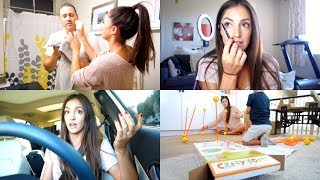MAKEUP TRICK TO SLIM YOUR FACE? || A DAY IN MY LIFE || ITSF VLOGS