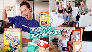 surprising my roommates + grocery haul ayee!!