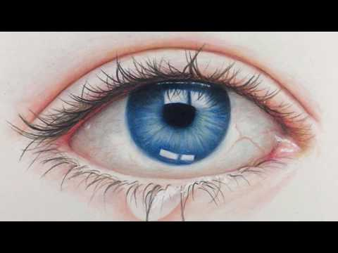 DRAWING REALISTIC EYE - Time Lapse | Prismacolor Pencils