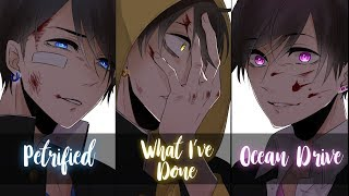 Nightcore - What I've Done / Petrified / Ocean Drive / Angel in Blue Jeans (Mashup)