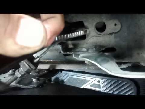 Cómo reparar el botón de la palanca del freno de mano o emergencia - VochoTalacha