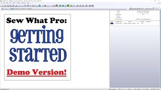 Sew What Pro Demo! - Tips to get you started with SWP!  How to use Sew What Pro, Getting Started.