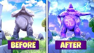 *NEW* GIANT ROCK STATUE *SECRETLY CHANGING* DURING EVERY STORM PHASE! SEASON 7 LOCATION UPDATE!