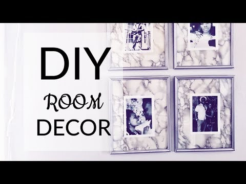 DIY ROOM DECOR! Hanging Photo Frames for Low Budget Projects