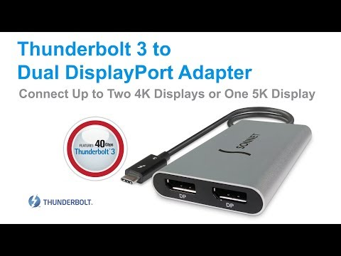 Sonnet Thunderbolt 3 to Dual DisplayPort Adapter Quick Overview