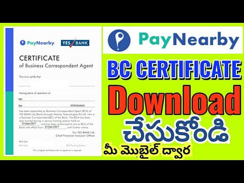 PayNearby | PayNearby BC Certificate Download | PayNearby BC