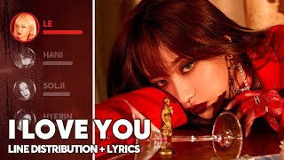 EXID - I LOVE YOU (Line Distribution + Lyrics Color Coded) PATREON REQUESTED