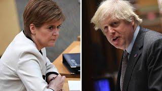 video: Nicola Sturgeon urges Boris Johnson to cancel Scotland visit as journey 'not essential'