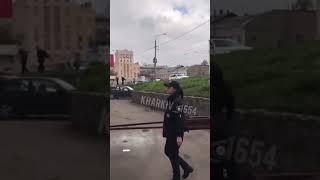 Харьков, взрыв гранаты возле вокзала после перестрелки у Восторга