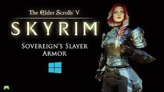 skyrim special edition Sovereign's Slayer Armor HDT showcase [HD]