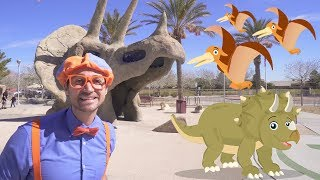 Blippi Dinosaur Surprise Egg Hunt | Dinosaurs for Kids