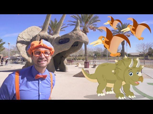 Blippi Dinosaur Surprise Egg Hunt   Dinosaurs for Kids