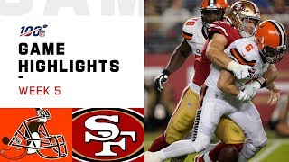 The Cleveland Browns take on the San Francisco 49ers during Week 5 of the 2019 NFL season.  Subscribe to NFL: http://j.mp/1L0bVBu  Check out our other channels: NFL Vault http://www.youtube.com/nflvault NFL Network http://www.youtube.com/nflnetwork NFL Films http://www.youtube.com/nflfilms NFL Rush http://www.youtube.com/nflrush NFL Play Football https://www.youtube.com/playfootball NFL Podcasts https://www.youtube.com/nflpodcasts  #NFL #Browns #49ers