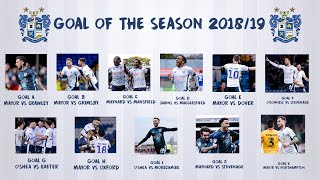Bury FC Goal Of The Season 2018/19 Shortlist!