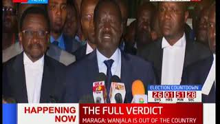 Raila Odinga reacts after the final presidential petition ruling