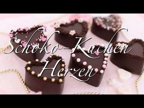 Schoko-Kuchen Herzen | schneller no bake Schoko-Kuchen