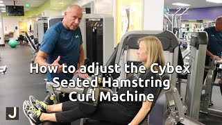 How to Adjust the Cybex Seated Hamstring Curl Machine