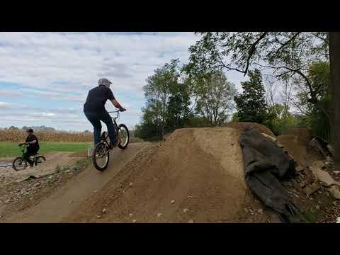 Fast and high bmx indiana woods.