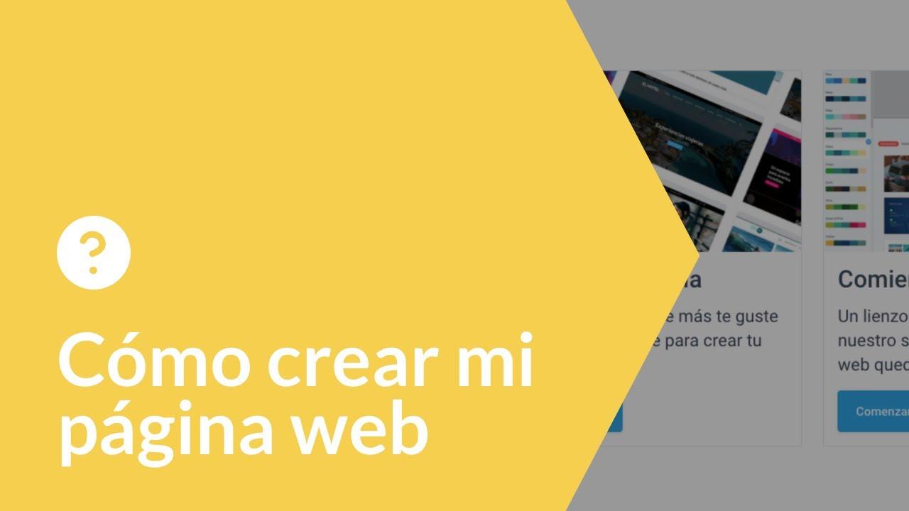 Cómo crear mi página web.